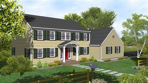 House Plans Colonial by 2 Story Colonial House Plans Two Story Colonial House With