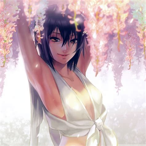 An77-anime-art-girl-flower-cute