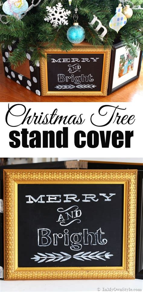 christmas tree stand cover using frames in my own style
