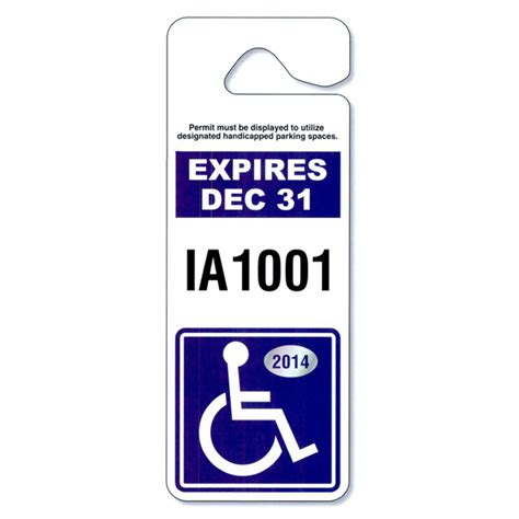 Personalized Giant Hang Tag Parking Permit Usimprints