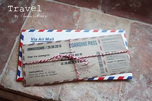 Faire Part Anniversaire Pas Cher : invitation faire part boarding pass anniversaire th me ~ Edinachiropracticcenter.com Idées de Décoration