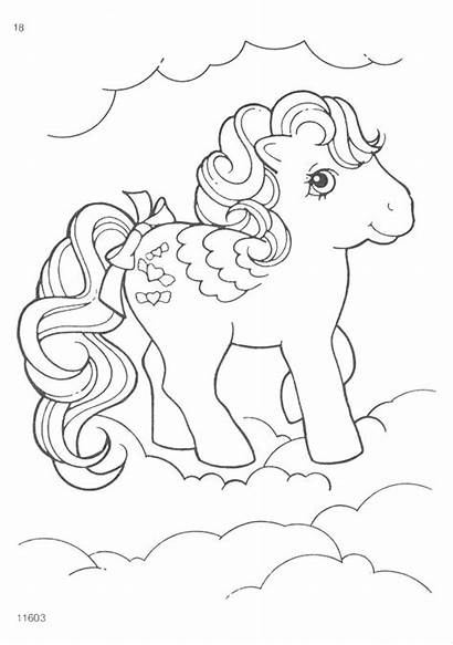 Pony Coloring Pages G1 Sheets Mlp Cartoon
