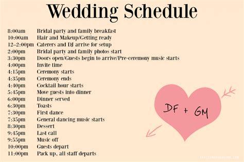wedding day timeline template wedding day timeline template tristarhomecareinc