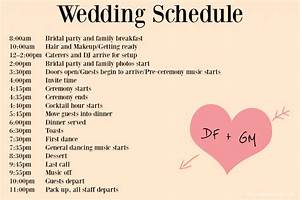 wedding day timeline template tristarhomecareinc With wedding day schedule of events template