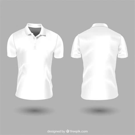 tshirt recto white polo shirt template vector free