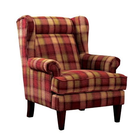 furniture of america henry wingback accent chair in