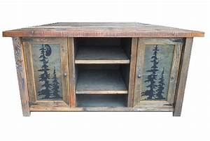 Bradley39s furniture etc rustic tv stands for Barnwood corner tv stand