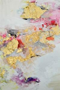 comment appliquer de la feuille d39or tableau abstrait With comment appliquer de la peinture