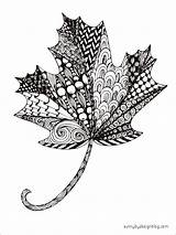 Coloring Adult Leaf Maple Leaves Pages Zentangle Printable Autumn Fall Mandala Mandalas Pattern Template Sunny Drawing Pdf Printables Colored Scribd sketch template