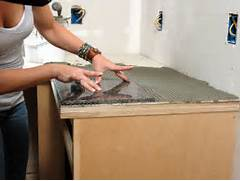 Diy Kitchen Countertop Ideas by How To Install A Granite Tile Kitchen Countertop How Tos DIY
