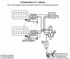 2 Humbuckers  3 1 Volume  Coil Tap North