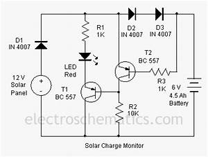 solar charger monitor circuit With solar cell nicad charger electric circuit diagram