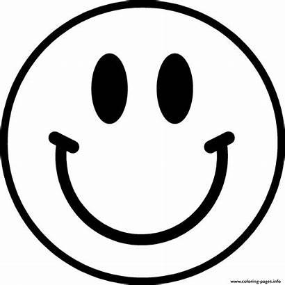 Emoji Coloring Smile Pages Printable