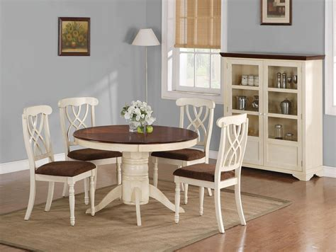 beautiful white  kitchen table  chairs homesfeed