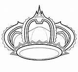 Crown Coloring Princess Tiara Netart Clipart sketch template