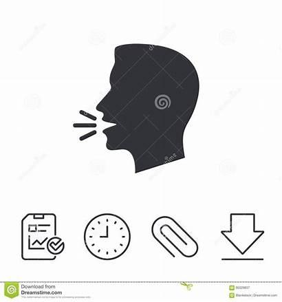 Speak Talk Icon Symbol Loud Sign Vector