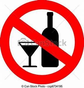 Vector no alcohol sign.