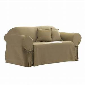Cotton duck sofa slipcover sure fit target for Sure fit sectional sofa covers