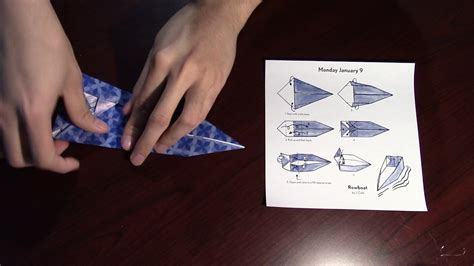 Easy Rowboat by How To Fold A Rowboat Origami Day 8 Easy
