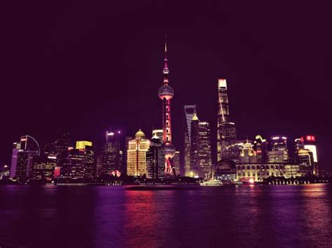 1440x2560 China Shanghai Neon City Lights Samsung Galaxy