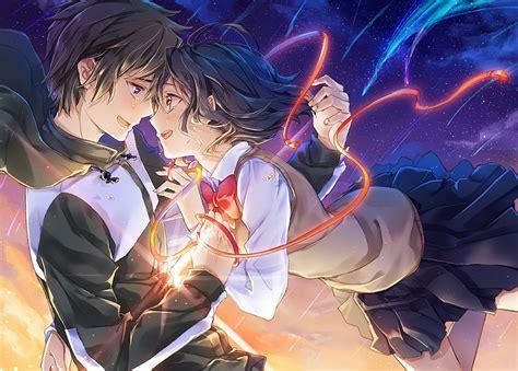 Anime Couple Terpisah Kimi No Nawa Kimi No Na Wa Full Hd Fondo De Pantalla And Fondo De