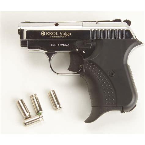 Blank - firing 9 mm Volga Pistol, Nickel - 188816, Blank ...