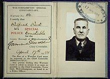 warrant card wikipedia