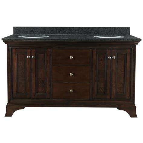 double sink bathroom vanity top shop allen roth eastcott auburn undermount double sink