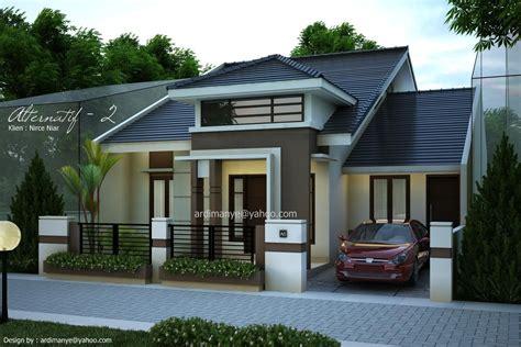 gambar desain rumah tampak depan modern minimalis makassar