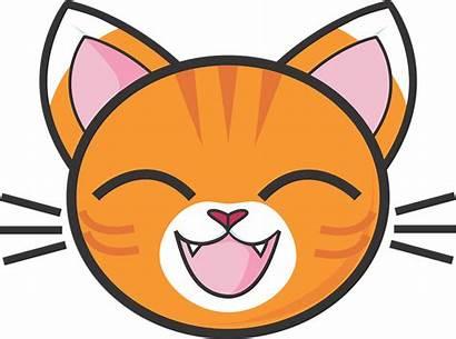 Cat Clipart Faces Animated Tabby Cartoons