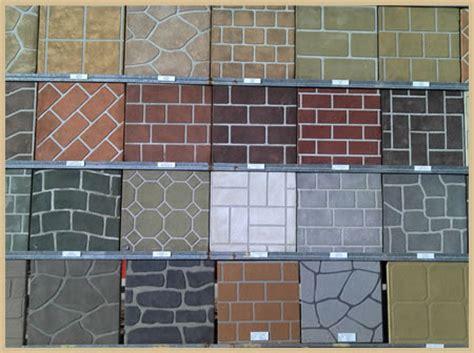 concrete template stenciling a fresh concrete slab concreteideas