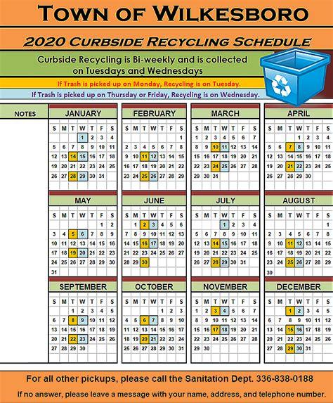 curbside recycling schedule wilkesboro nc