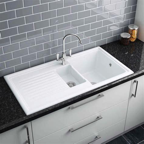 white ceramic kitchen reginox white ceramic 1 5 bowl kitchen sink at victorian