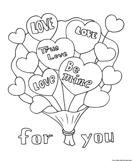 Coloring Valentines by Printable Valentines Bouquet Flowers Coloring Pages For
