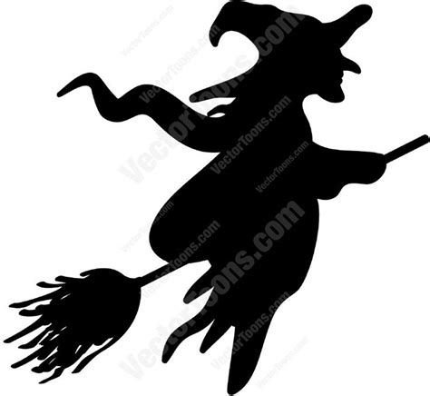 silhouette   witch   broom witch silhouette