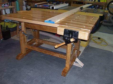 adjustable height workbench  lenny  lumberjockscom