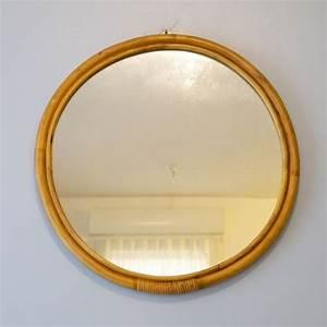 Miroir En Rotin : miroir vintage rond en rotin la maison retro ~ Nature-et-papiers.com Idées de Décoration