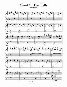 Free Piano Arrangement Sheet Music – Carol Of The Bells ...
