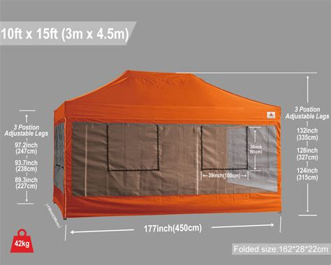 roller cuisine 10x15 abccanopy deluxe orange food vendor packagetent with