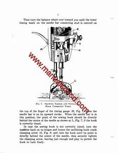 Singer 66 99 185 Sewing Machine Adjusters Manual