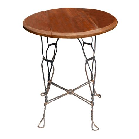 24 quot vintage outdoor wood wrought iron caf 233 table ebay