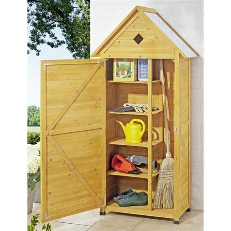 armadi per esterno in legno armadio da esterno in legno portascope e attrezzi per balcone