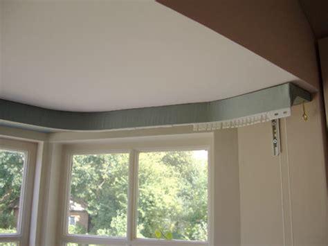 covered lath  fascia curtain track blind pole
