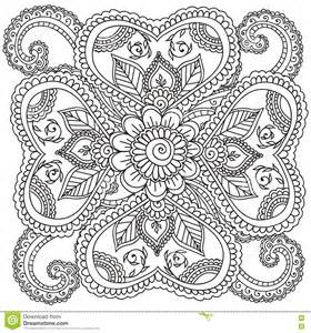 Abstract Flower Coloring Pages Adult