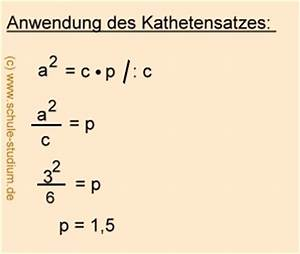 Kathetensatz Berechnen : satzgruppe des pythagoras h hensatz kathetensatz schwierige bungsaufgabe mit musterl sung ~ Themetempest.com Abrechnung