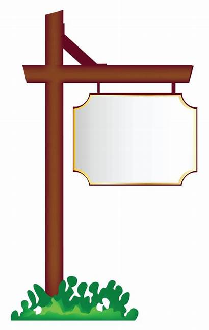 Blank Clipart Sign Clip Signs Hanging Frame