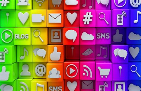 social media icons sms blog wallpaper  android