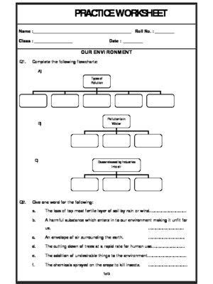 environment  images worksheets science
