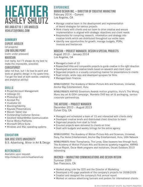 Resume Marketing by 1000 Ideas About Marketing Resume On Best