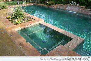 15 fabulous swimming pool with spa designs decoration for Swimming pool and spa design